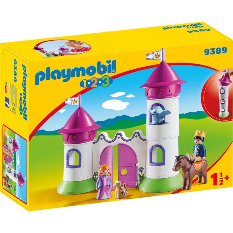 playmobil 1.2.3. castillo torre apilable