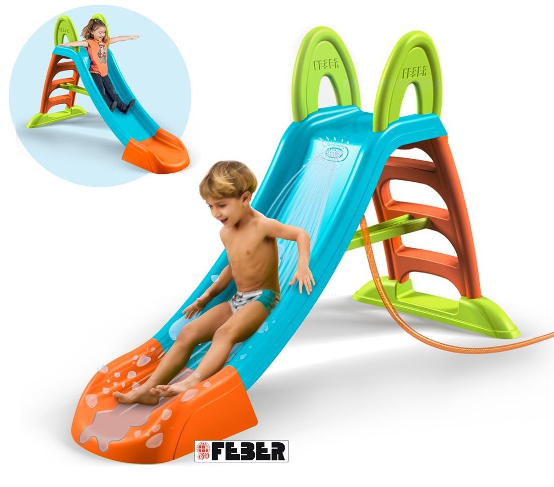 feber tobogan slide plus con agua