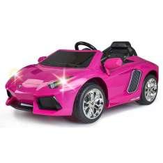 feber coche lamborghini rosa bateria 6v.