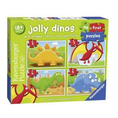 puzzle 2-3-4-5 mi primer dinosaurio