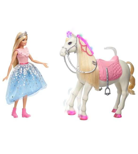 barbie princess adventure caballos, mascotas con accesorios (mattel gml79)