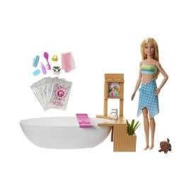barbie y su bañera de burbujas, muñecay accesorios  para niños y niñas (mattel gjn32)