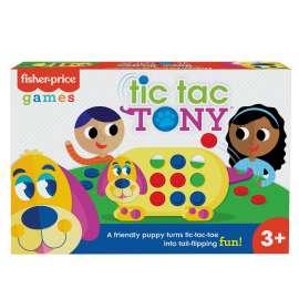 fisher-price juego de mesa tic tac tony, juego 3 en raya para niños +3 años (mattel gwn53)