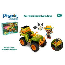 pin y pon action wild coche quad