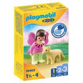 playmobil 1.2.3. hada con zorro