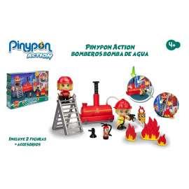 pin y pon action bomba agua y 2 bomberos