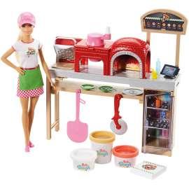 barbie quiero ser pizza chef, muñeca y accesorios de juguete (mattel fhr09)