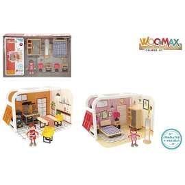 woomax casa madera/ con accesorios sdos