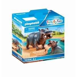 playmobil hipopotamo con bebe