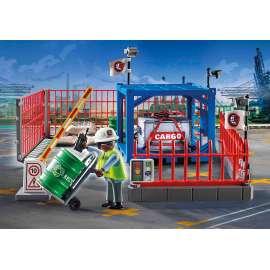 playmobil deposito de carga